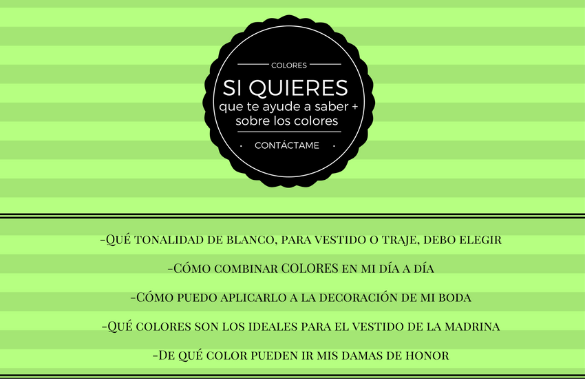 Asesoría de color, text de color